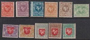 LITHUANIA 1919 Mi 50-60 MNH OG