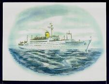 Original Art Work ...ss STOCKHOLM ...ocean liner....Swedish American Line