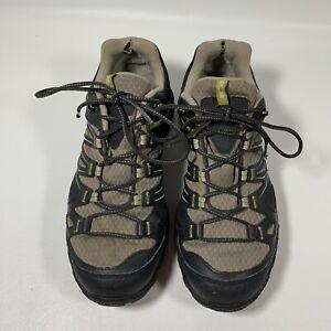 Salomon Contagrip Gore Tex Ortholite Hiking Shoes 145464 Womens 8.5 Black Tan