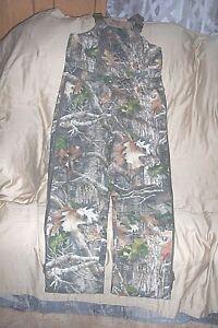 Boys Large Insulated Hunting Bib Overalls Camouflage Coveralls  Kanati Camo Bibs