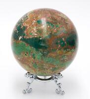 Western Australia Pilbara Chrysocolla Malachite 90mm Rock Sphere Jasper BBM2