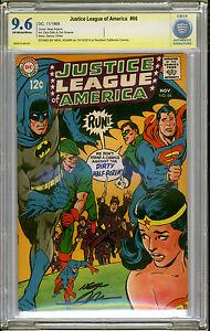 Justice League #66 NM+ 9.6 Neal Adams Signature Series Superman Batman KILLER