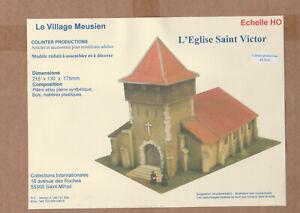 Colinter Productions - maquette HO - Eglise Saint Victor fortifiée avec hourd