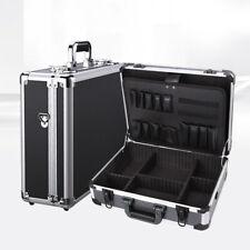 Aluminum Tool Holder Box Case Flight Briefcase Key Lock With Shoulder Strap