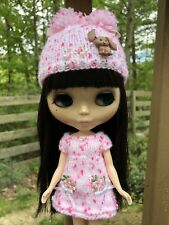 Blythe dress+ Rabbit Hat Set