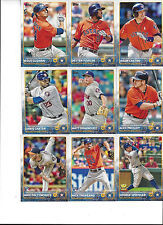 2015 Topps 1&2 Houston Astros Team Set George Springer Keuchel Jose Altuve 27