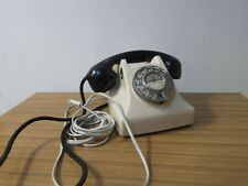 RARE Old Style Vintage Cream and Black Rotary Dial Phone Retro British Bakerlite