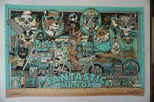Tyler Stout Fantastic Mr. Fox Variant Poster Art Print Bottleneck Wes Anderson