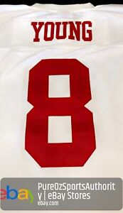 San Francisco 49ers Steve Young Mitchell Ness White 1990 Legacy Jersey 44 Large