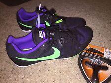 Nike ZOOM Rival M UNISEX Sz 11.5 Racing Multi Use Shoe 7 Track Spike Black