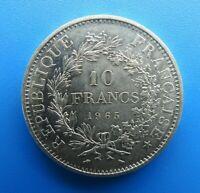 #2073# Jolie pièce de 10 Francs Hercule #1965#Argent#