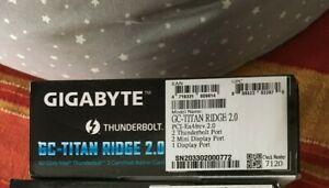 Gigabyte GC-Titan Ridge 2.0 Thunderbolt 3 USB-C 3.2 flashed Mac Pro card in boxx
