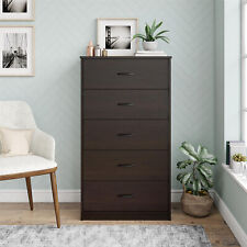 5-Drawer Dresser Chest Clothes Storage Modern Bedroom Cabinet Wood Espresso