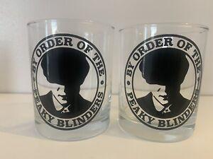 Set Of 2 Peaky Blinders Whiskey Glasses.
