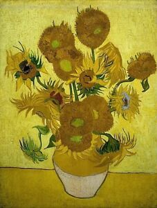 Hand Painted Oil Painting Reproduction Sunflowers, Vincent Van Gogh 50 By 60cm