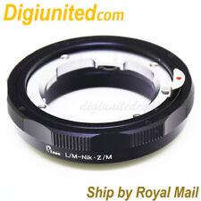 Leica M L/M lens to Nikon Z mount Mirrorless camera adapter macro helicoid Z7 Z6