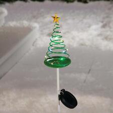 Solar Powered Lighted Christmas Tree Yard Pathway Stake