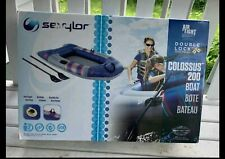 Inflatable Boat Sevylor Colossus 200 2 Person Raft + Oars 2000014138 New Sealed!