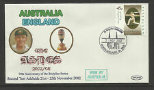 AUSTRALIA v ENGLAND ASHES 2002/03 SERIES 2nd TEST MATCH ADELAIDE COVER