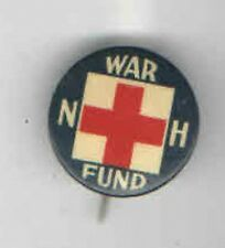 1917 pin WWI HOMEFRONT pinback RED CROSS button NH Fund