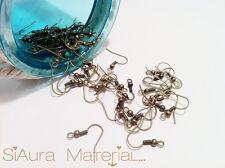 20x Ohrhaken Fischhaken Ohrfeder Bronze 18 x 19 mm DIY Basteln Schmuck Material