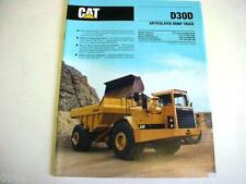 Caterpillar D30D Articulated Dump Truck Brochure