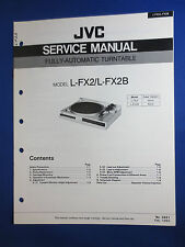 JVC L-FX2 L-FX2B Turntable Service Manual Factory Original The Real Thing