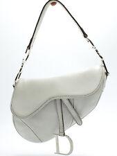 Christian Dior Saddle Bag Shoulder Schultertasche Tasche Zeitlose Weiss White