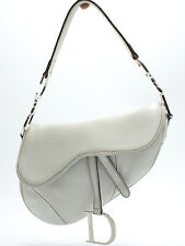 Christian Dior Saddle Bag Shoulder Sac a bandouliere Sac Intemporel Blanc White