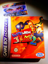EARTHWORM JIM 2 NUOVO SIGILLATO NINTENDO GAMEBOY ADVANCE RARO NDS GBASP
