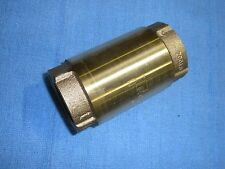 """Check Valve Cv-6Tlf 1-1/2"""" Campbell Lead Free Brass Bronze Stainless Cold Water"""