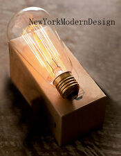 Box of 10 Vintage T64 110-220 HG Edison Filament Light bulb dimmable lamp NEW
