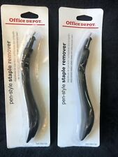 Lot Of Two Office Depot Pen Style Staple Removers