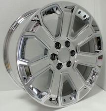 4 NEW 2015 GMC Wheels 22x9 Chrome W/Inserts OE Yukon Silverado Denali Tahoe