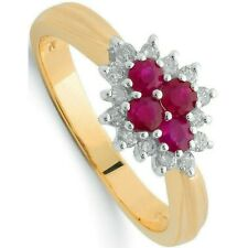 Yellow Gold Ruby and Diamond Ring Engagement Appraisal Certificate
