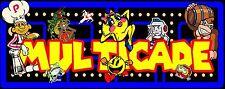 """NEW Arcade DESIGN  Classics marquee Multicade Art sticker  23""""x 7"""""""