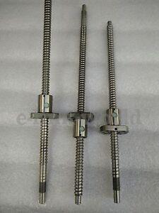 Anti backlashed RM2505-600/650/800mm Ballscrews Lead Screws & Mechine End