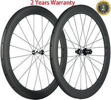 60mm Depth Carbon Wheels Road Bike Clincher DT350s Hub Bicycle Wheelset 23mm Wid