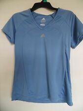 adidas clima365 v-neck Blue exercise knit top Size M