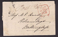 IRELAND, Stampless Cover, Dublin to Baltinglass, Co. Wicklow, October 28, 1838