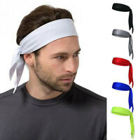 Men Women Head Tie Headband Outdoor Sport Headband Sweat Band Hair Sweatband Hc
