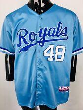 VTG Majestic Kansas City Royals #48 Soria Stitched Jersey size 54