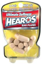 New Hearos Ultimate Softness Ear Plugs (NRR 32) (6 Pairs)
