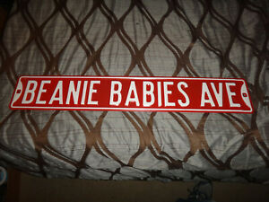 """BEANIE BABIES AVE. METAL SIGN 36"""" X 6"""" COLLECTIBLE SIGN"""