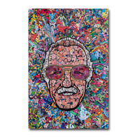 Marvel Comics Classic Stan Lee Collage Funny Art Canvas Poster 12x18 24x36 inch
