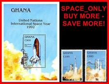 SPACE YEAR//SHUTTLE  set + S/S from GHANA 1992 SC#1494//1502 CV$8.75 MNH D-BX