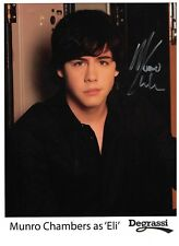 Munro Chambers Signed Autographed 8 1/2 x 11 Photo Canadian Actor Degrassi Eli
