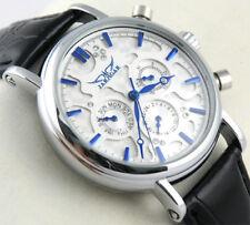 New Elegant Blue-Hands Automatic Mechanical Mens Watch Week Date Wrist Watch+Box