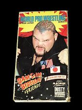 WWF WWE BAM BAM BIGELOW WORLD PRO WRESTLING FROM JAPAN VHS TAPE HAND SIGNED RARE