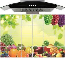 60×90cm Large Fruit Aluminum Foil Oil Proof Sticker Kitchen Wall Paper Decal